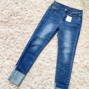 NWT Lucky Brand Hayden Straight Leg Cuff Jeans